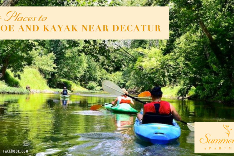 4 Places to Canoe and Kayak Near Decatur